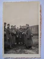 Guerre 39/45 -  Groupe Soldats Allemands Wehrmacht   - Tenue D'Hiver -  Photographie Originale   - TBE - 1939-45