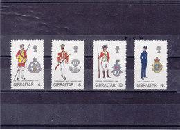 GIBRALTAR 1974 UNIFORMES VI Yvert 308-311 NEUF** MNH - Gibraltar