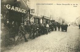 77  BRIE COMTE ROBERT  Maison Bacquecille Et Rue De Paris  Garage Animation CPA Non écrite - Brie Comte Robert