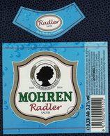 Autriche Lot 2 Etiquettes Bière Beer Labels Mohrenbräu Mohren Radler Sauer - Bière