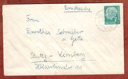 Drucksache, Heuss, Zuettlingen Nach Leonberg 1956 (72852) - [7] République Fédérale