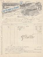 Courtrai - Tissage Mecanique Mouchoirs Batistes Linge De Table - Dejargher Bruneel - 1906 - Belgique