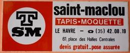 AUTOCOLLANT STICKER - TAPIS SAINT MACLOU - LE HAVRE 76 - Autocollants