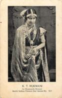 Inde - South Indian Cinema Star - Séries N° 513 - K.T. Rukmani - In Chamunde Shwari - India