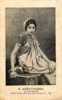 Inde - South Indian Cinema Star - Séries N° 551 - K. Aswathamma - In Chintamani - India