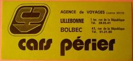 AUTOCOLLANT STICKER - CARS PERIER - LILLEBONNE BOLBEC 76 - Autocollants