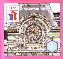 BLOC FFAP 2012 N° 6 ** 85° CONGRES PARIS GARE D'ORSAY  HORLOGE - FFAP