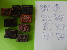 Lot De 8  Tampons Papillons - Scrapbooking