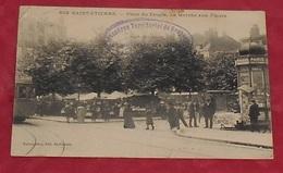 42 - Saint Etienne - Place Du Peuple - Le Marché Aux Fleurs : Voir état ::: Animation - Tramway - Marché ----------- 497 - Saint Etienne