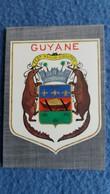 CPSM BLASON DE GUYANE ECUSSON D APRES ARCHIVES DE LA VILLE DE CAYENNE ED DELABERGERIE 143 BORD DECOUPE - Guyane