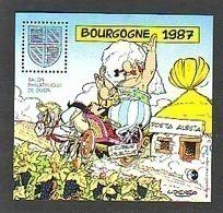 FRANCE BLOC CNEP N° 8 ** BOURGOGNE 1987 - ASTERIX -OBELIX  BD - BANDE DESSINEE ALESIA - CNEP