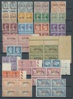 1924, Ausgaben Frankreichs Mit Aufdruck In Postfrischen Viererblocks, Fast Nur Pracht -> Automatically Generated Transla - Algerien (1962-...)