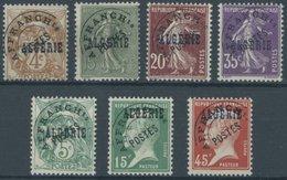 1924/5, 7 Verschiedene Werte Mit Vorausentwertungen, Postfrisch, Pracht -> Automatically Generated Translation: 1924 / 5 - Algerien (1962-...)