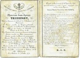 Doodsprentje/Image Mortuaire. Thienpont Présidant Tribunal Oudenaarde. Etichove 1774/Audenarde 1863; - Images Religieuses