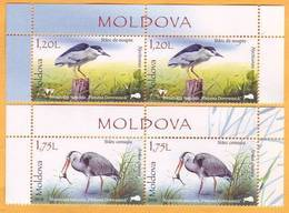 2018 Moldova Moldavie Fauna  Nature, Nature Reserve. Forest. Birds. Animals.  Mint - Storks & Long-legged Wading Birds