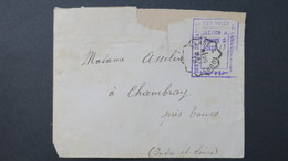 Cachet Violet Service De Garde Voies De Communication 1915 Sur Lettre Obl Ambulant Sarge A Tours Mai 1915 - Marcofilie (Brieven)