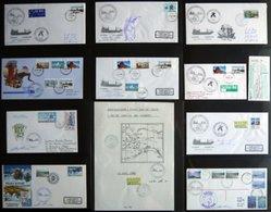 ANTARKTIS 1984-89, Antarktis Expeditionen Der ICEBIRD HAMBURG, 38 Verschiedene Belege Im Album, Pracht - Stamps