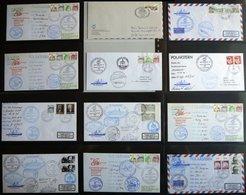 ANTARKTIS 1986, Fünfte Antarktis Expedition Der POLARSTERN, 66 Verschiedene Belege Im Album, Pracht - Stamps