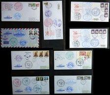 ANTARKTIS 1988/9, Siebente Antarktis Expedition Der POLARSTERN, 18 Verschiedene Belege, Pracht - Stamps