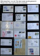 ANTARKTIS 1960-93, Interessante Sammlung Von 185 Verschiedenen Belegen Internationaler Antarktis Expeditionen, Prachtsam - Stamps