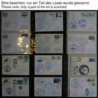 ANTARKTIS 1997-2001, Antarktis Expeditionen, 100 Verschiedene Belege, Meist Deutsche Institute, Im Spezialalbum, Pracht - Stamps