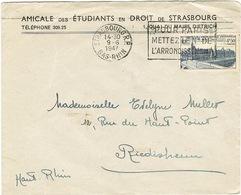 O.MEC FRANKERS-SECAP STRASBOURG SUR 781 UN COIN DECHIRE - Marcophilie (Lettres)