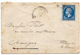 France N° 22 Y. Et T. Cachet Type 22 Et GC 2029 Lhommaizé Vienne Du 07/10/1866 Ind 8 - Storia Postale
