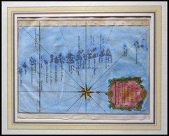 Malediven, Carte Des Isles Maldives, Kolorierter Kupferstich Aus Carte Des Voyag, Ca. 1750 - Karten