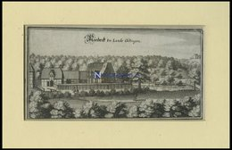NIEDECK BEI GÖTTINGEN, Gesamtansicht, Kupferstich Von Merian Um 1645 - Lithographien