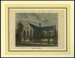 PADERBORN: Die Kathedrale, Kolorierter Holzstich Um 1880 - Lithographien
