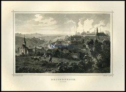 REICHENBACH/SACHSEN, Gesamtansicht Mit Arbeitendem Bauern Im Vordergrund, Stahlstich Von Rohbock/Richter Um 1850 - Lithographien