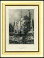 ROSENTHAL: Das Kloster, Stahlstich Von Verhas/Winkles Um 1840 - Lithographien