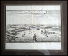 RÜGEN: Porsnitzer Schanze, Kupferstich Von Merian Um 1645 - Lithographien