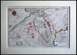 SANDERSHAUSEN, Plan Der Schlacht Vom 23.7.1758, Altkolorierter Kupferstich Von Ben Jochai Bei Raspische Buchhandlung 176 - Lithographien