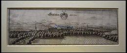 SCHLIESTEDT/SCHÖNINGEN In Niedersachsen, Gesamtansicht, Kupferstich Von Merian Um 1645 - Lithographien