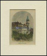 SCHORNDORF: Das Schloß, Kolorierter Holzstich Um 1880 - Lithographien