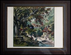 SEEBACH, Teilansicht, Kolorierter Holzstich Aus Stieler Um 1880 - Lithographien