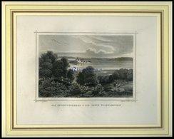 Das STEINHUDER MEER Und Die FESTUNG WILHELMSTEIN, Stahlstich Von Rohbock/Poppel Um 1840 - Lithographien