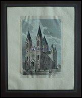 STUTTGART: Die Garnisionskirche, Kolorierter Holzstich Nach Restel Um 1880 - Lithographien