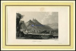THURANT Und ALKEN, Gesamtansicht, Stahlstich Von Winkles Um 1840 - Lithographien