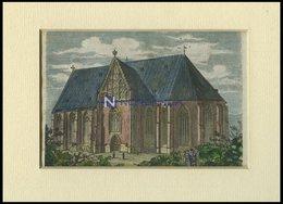 VERDEN: Der Dom, Kolorierter Holzstich Auf Vaterländische Geschichten Von Görges 1843/4 - Lithographien