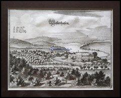 WESTERHOF, Gesamtansicht, Kupferstich Von Merian Um 1645 - Lithographien
