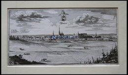 WITTSTOCK, Gesamtansicht, Kupferstich Von Merian Um 1645 - Lithographien