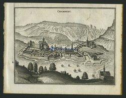 CHAMBERY, Gesamtansicht, Kupferstich Von Merian Um 1645 - Lithographien