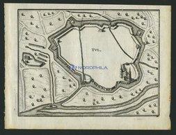 TULLE, Grundrißplan, Kupferstich Von Merian Um 1645 - Lithographien