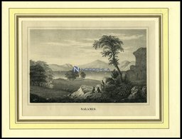 SALAMIS, Gesamtansicht, Lithografie Um 1840 - Lithographien