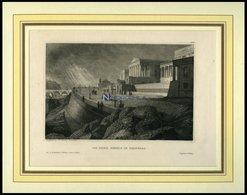 EDINBURGH: Die Hohe Schule, Stahlstich Von B.I. Um 1840 - Lithographien
