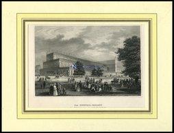 LONDON: Der Kristall-Palast, Stahlstich Von B.I. Um 1840 - Lithographien