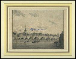 NEW-CASTLE, Gesamtansicht, Lithographie Um 1830 - Lithographien