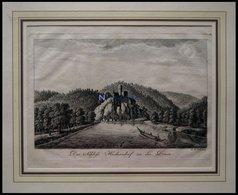 SCHLOSS HECKERSDORF/DONAU, Kupferstich Um 1700 - Lithographien